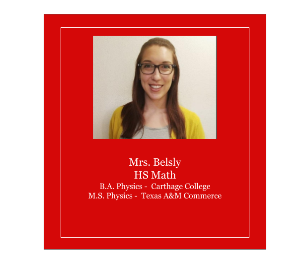 Meet Mrs. Belsly
