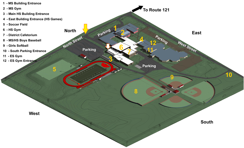 Campus Map of Fields