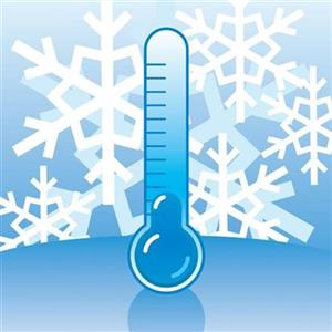 Snowflakes and thermometer